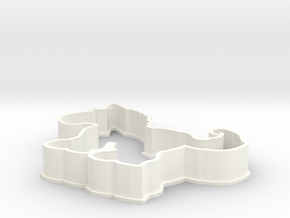 Horse cookie cutter in White Strong & Flexible Polished