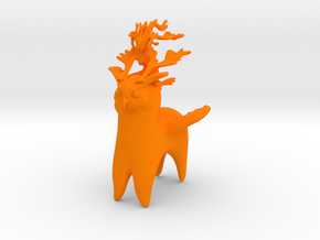 Ermaid Owlpaca Rider in Orange Strong & Flexible Polished