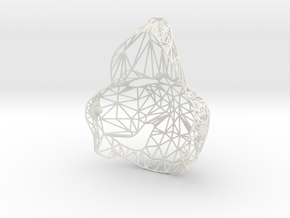 Puppethead8 - reduced mesh in White Strong & Flexible