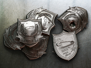 Imperium Badge 60mm in Frosted Ultra Detail