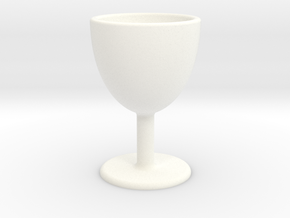 Wine Glass Shot Glass in White Strong & Flexible Polished