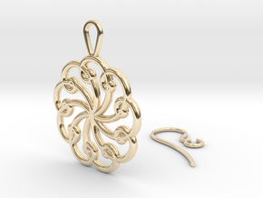 Fibonacci Earring 9 in 14k Gold Plated