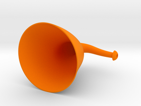 Hangit&Hearit Ergo Ear Trumpet in Orange Strong & Flexible Polished
