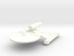 Falcon Class Refit II  HvyCruiser in White Strong & Flexible Polished