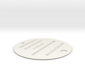 LETTER STENCIL in White Strong & Flexible