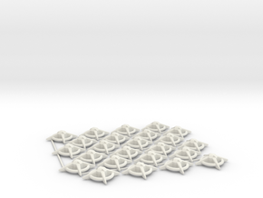 Terran Starbases - Pack of 24 (Connected) in White Strong & Flexible
