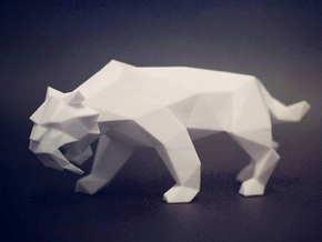 Saber Toothed Tiger in White Strong & Flexible Polished