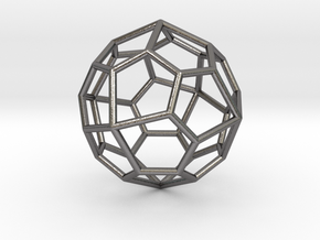 0322 Pentagonal Icositetrahedron E (a=1cm) #001 in Polished Nickel Steel