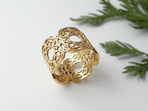 Arabesque Motif Band - Size 9 in 14k Gold Plated