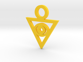 Aigami's Pendant- Yu-Gi-Oh! Darkside of Dimensions in Yellow Strong & Flexible Polished