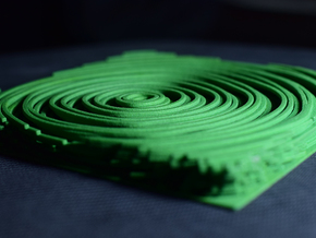 Experimental Surface based on Annual Rings  in Green Strong & Flexible Polished