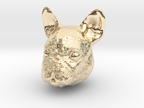 Dog in 14K Gold