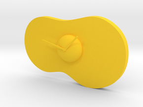 egg clock in Yellow Strong & Flexible Polished