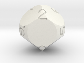 D9 Sphere Dice in White Strong & Flexible