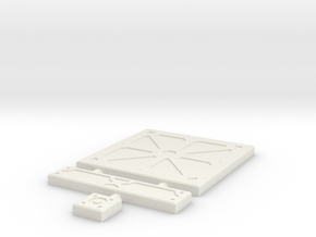 SciFi Tile 03 - Reinforced Plate in White Strong & Flexible