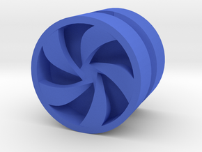 PINWHEEL_1814RS_LEFT - LEGO-compatible Custom Rims in Blue Strong & Flexible Polished