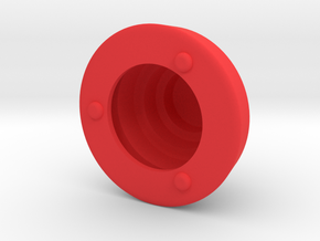 DRAW object - terraced dome hollow in Red Strong & Flexible Polished