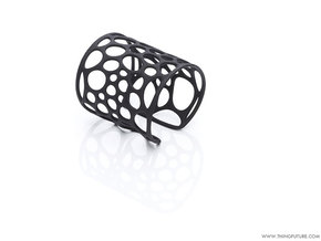 Voronoi bracelet (SMALL) in Black Strong & Flexible