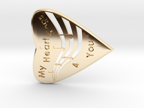 HEART 3- My Heart Sings 4 you with musical Staff & in 14K Gold