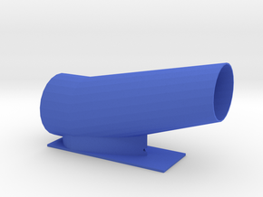 52mm Duct for pinewood derby in Blue Strong & Flexible Polished
