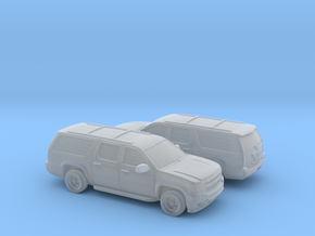 1/160 2X 2007-14 Chevrolet Suburban in Frosted Ultra Detail