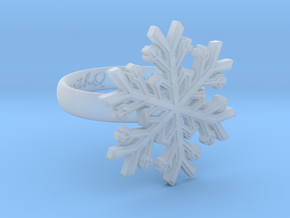 Snowflake Ring 1 d=17mm h35d17 in Frosted Ultra Detail