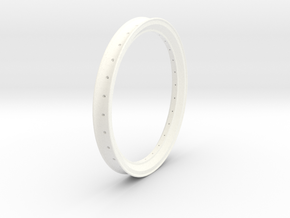 Free Flight Spoked Wheel Rim in White Strong & Flexible Polished