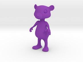 Tiny Bear in Purple Strong & Flexible Polished