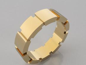 GBW7 Mns Square Band in 14K Gold