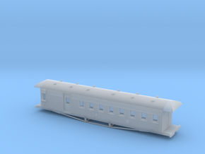 Nz120 Nzr 47-1/2 Ft Passenger/Guards Car in Frosted Ultra Detail