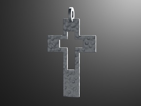Cross Cutout in Polished Silver