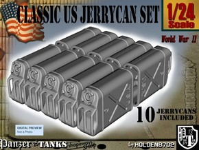 1-24 US Jerrycan TEN UNITS in White Strong & Flexible
