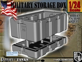 1-24 Military Storage Box in White Strong & Flexible Polished