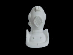 Mini DIVING helmet 1 inch tall   in White Strong & Flexible