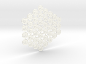 Culture Tokens (40 pcs) in White Strong & Flexible Polished