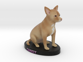 Custom Dog Figurine - Candy in Full Color Sandstone
