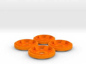 Gotti X13 Rim Star Scale 1:8 (1 set = 4 pieces) in Orange Strong & Flexible Polished