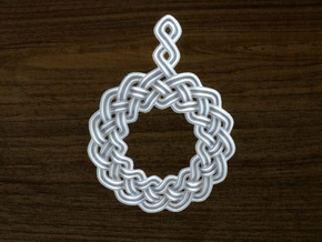 Woven Pendant in Stainless Steel