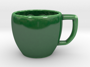 Carnivorous Coffee Cup - Iteration 2.0 in Gloss Oribe Green Porcelain