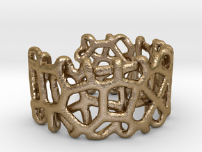 Bracelet Ø78 mm/Ø3.07 inch Voronoi C in Polished Gold Steel