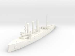 1/1000 Pallada-Class Cruiser (no guns) in White Strong & Flexible Polished