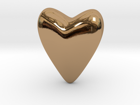 Small Heart in Polished Brass