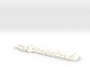 Phantom 3 Keychain in White Strong & Flexible Polished