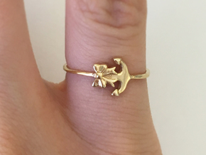Anchor Bow Ring Size 4.25 in 18k Gold Plated
