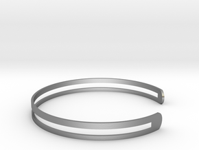 Bracelet Ø58 Mm S/Ø2.283 inch in Raw Silver