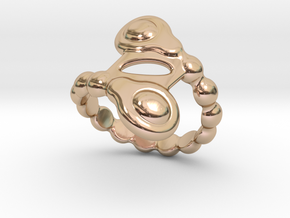 Spiral Bubbles Ring 16 – Italian Size 16 in 14k Rose Gold Plated