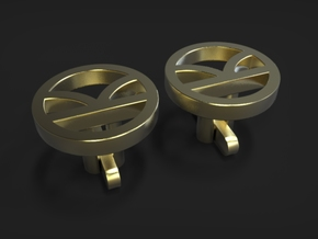 Kingsman Cufflinks in Polished Brass