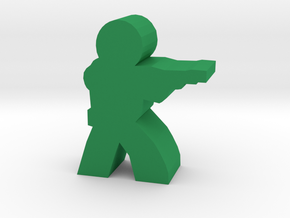 Game Piece, Earth Trooper in Green Strong & Flexible Polished