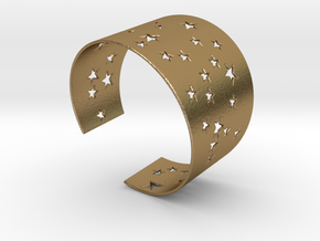 Starry Night Bracelet Ø78 Mm XXL/Ø3.07 inch XXL in Polished Gold Steel