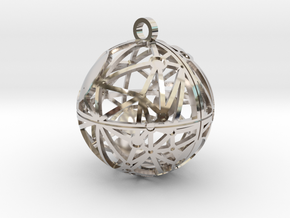 Craters of Tethys Pendant in Rhodium Plated